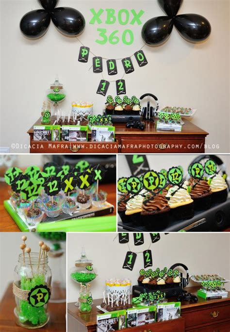 xbox 360 themed birthday party xbox video game boy 12th birthday party planning