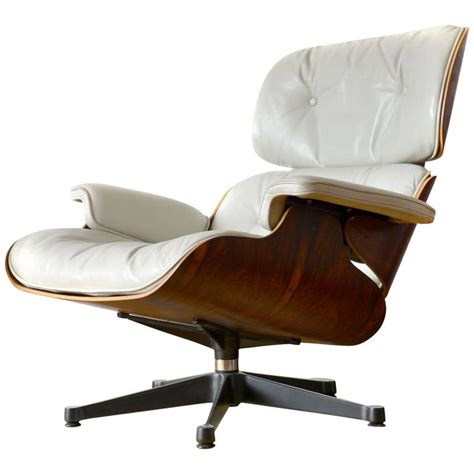 eames lounge chair white leather white leather lounge chair charles eames for sale at 1stdibs