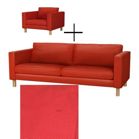 ikea karlstad armchair cover ikea karlstad 3 seat sofa and armchair slipcover cover korndal red xmas last one