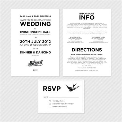 Wedding Invitation Info Card by Info Card Wording Design