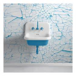lavabo en c 233 ramique 233 maill 233 e 60 cm true colors bleu