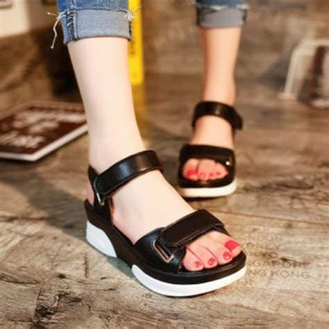 Sneaker Wedges Korean Style Import M016a mt011351 korean fashion thick sole end 10 25 2018 2 17 pm