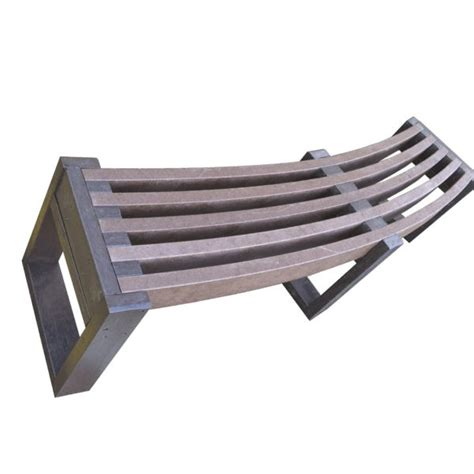 curved seating bench eco friendly recycled plastic curved bench outdoor seating