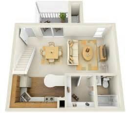 Efficiency Apartment Decorating studio 1st floor townhome 3d floor plan www
