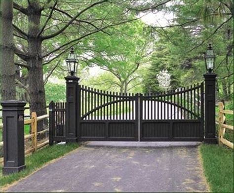 gate lighting ideas perfect 5 on driveway gates traditional home driveway gates