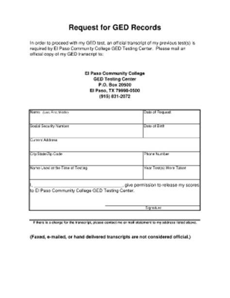 Fill In Transcripts For Ged Al Fill Online Printable Free Ged Template