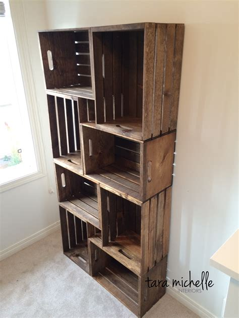 wood crate storage ideas  organize  stuff