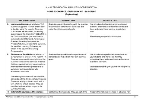 home economics lesson plan template house design plans