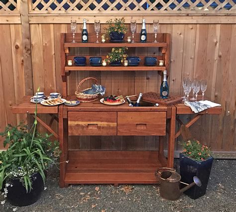 redwood potting bench redwood potting bench custom outdoor wood bench