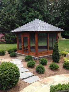 stand alone screened porch on stone patio contemporary porch other metro by land art