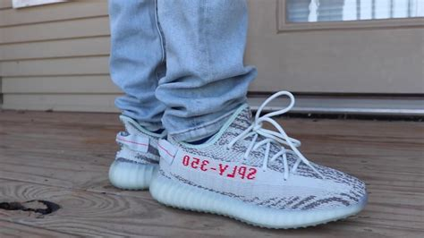 Adidas Yeezy Premium Blue 2017 blue tint adidas yeezy boost 350 v2 on foot look