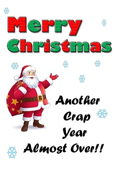christmas cards merry christmas  crap year
