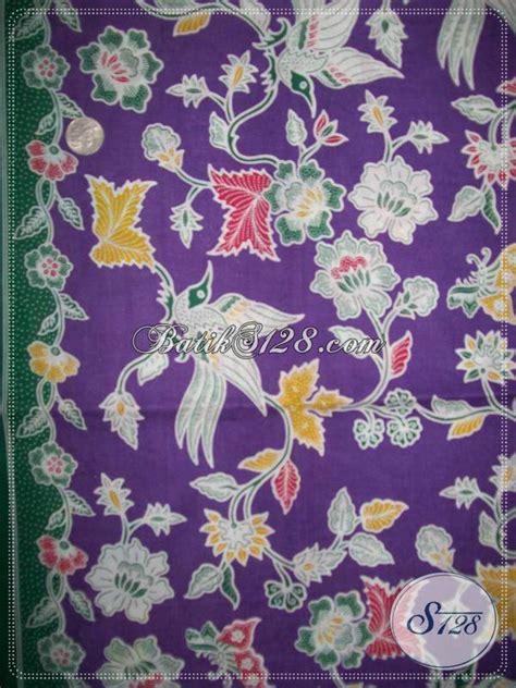 Kain Batik Motif Bunga Bintang Dan Burung Unik Ungu Harga Grosir kain batik warna ungu kain batik motif burung dan bunga