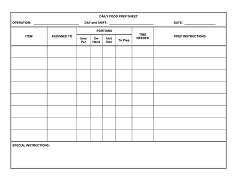 28 meal prep template monthly meal prep template search
