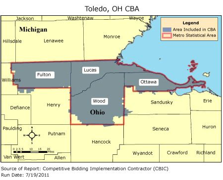 zip code map toledo ohio cbic round 2 competitive bidding area toledo oh