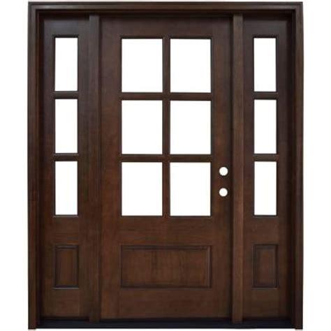 Home Depot Prehung Interior Doors steves amp sons savannah 6 lite stained mahogany wood