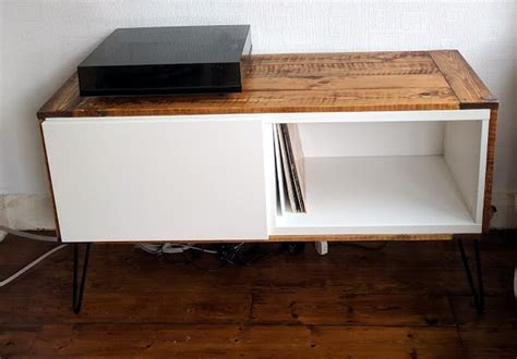 besta vinyl got best 197 covered a record player stand ikea hackers