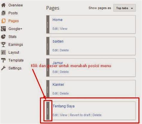cara membuat link menu di html cara membuat menu di blogspot