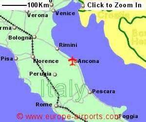 Ancona Italy Map by Ancona Marche Airport Italy Aoi Guide Amp Flights