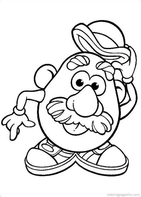 Mr Potato Head Coloring Pages 54 Relay Ideas Mrs Potato Coloring Pages