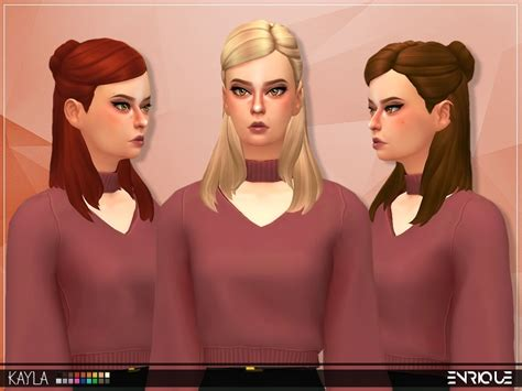 27 besten sims 4 hair maxis match recolor bilder auf maxis die sims und sims 4 hairs the sims resource enrique s hair retextured
