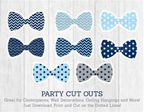 bow tie baby shower bow tie cut outs baby shower chevron bow tie