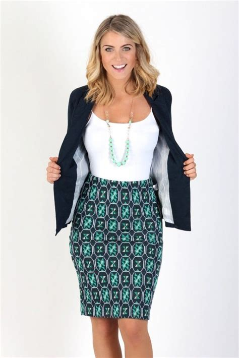 black and white pattern skirt outfit 14 summertime outfits to wear to work office attire