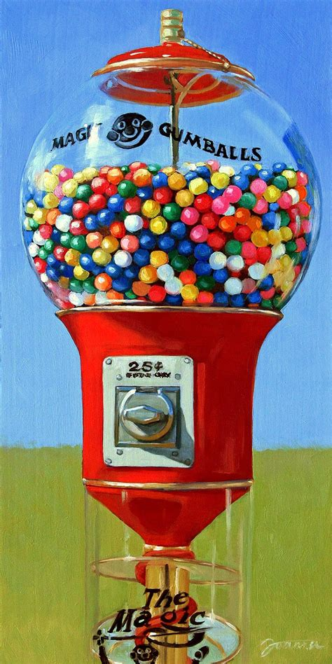 a painting a moment quot magic gumballs quot painting of gumball machine