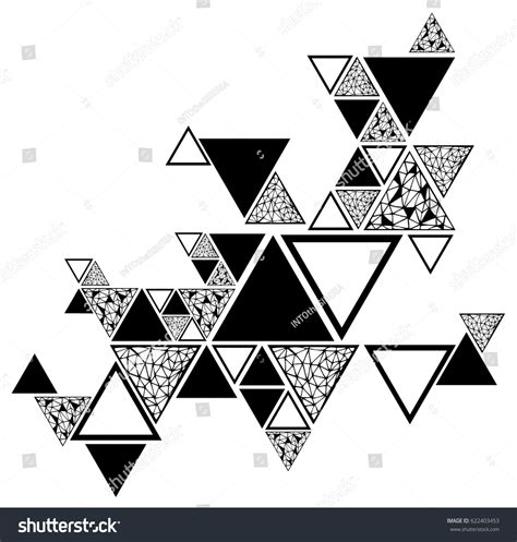 geometric element pattern abstract seamless pattern geometric elements triangles