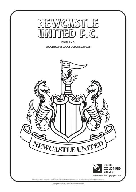 cool coloring pages newcastle united fc logo coloring