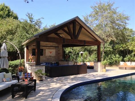 outdoor bar 191 houston poolside cabana with timberframe construction