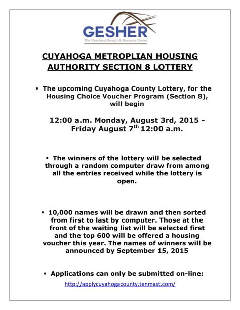 section 8 cuyahoga county cuyahoga county section 8 lottery