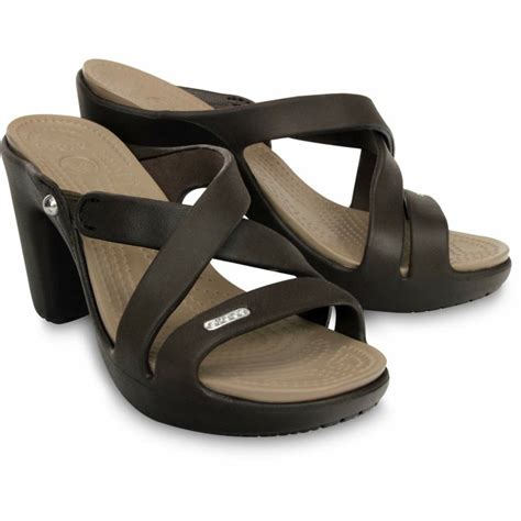 sandal images crocs cyprus iv heel sandals black brown beige gray