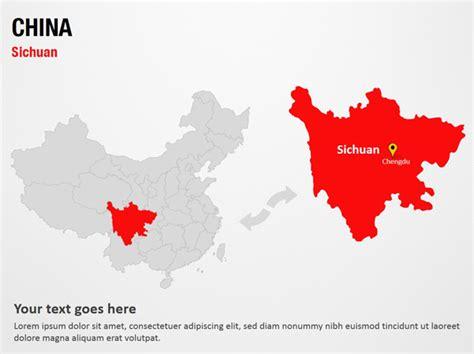 Sichuan China Powerpoint Map Slides Sichuan China Map Ppt Slides Powerpoint Map Slides Of China Ppt Template