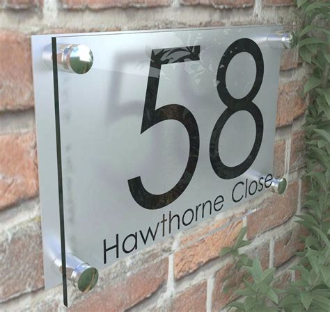 perspex house signs plaque door numbers