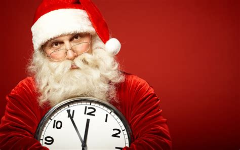santa claus christmas clock humor wallpapers hd desktop  mobile backgrounds