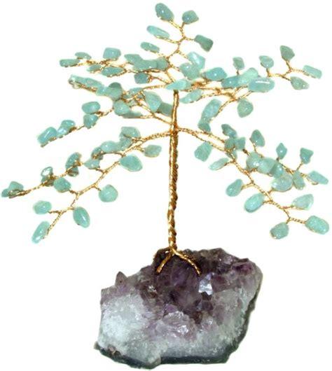 32 95 aquamarine gemstone trees l free us ship giftwrap