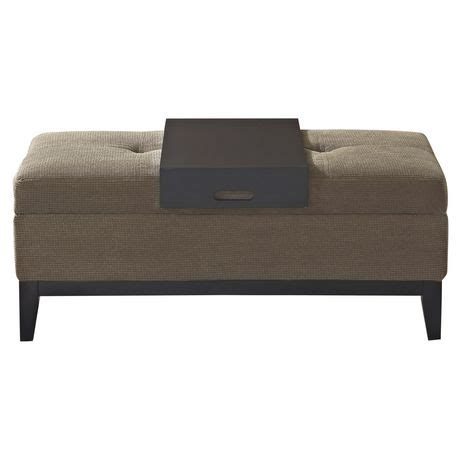 storage ottoman bench with tray wyndenhall jackson rectangular storage ottoman bench with