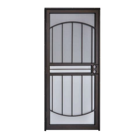 home depot security doors grisham 32 in x 80 in 555 series tuscany copper vein
