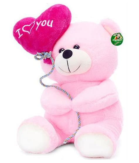 1428mb Pink Inlove tickles pink i you balloon teddy 30 cm snapdeal price toys deals at snapdeal