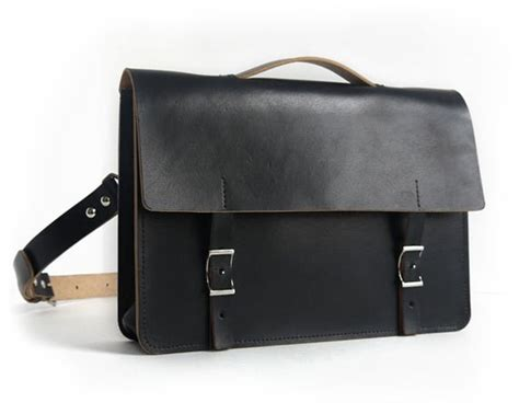 Handmade Leather Messenger Bags For - handmade black leather messenger bag veg basader