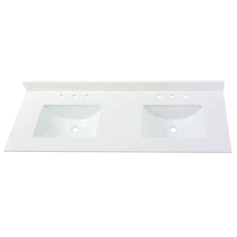 trough sinks home depot home decorators collection 61 in w engineered marble