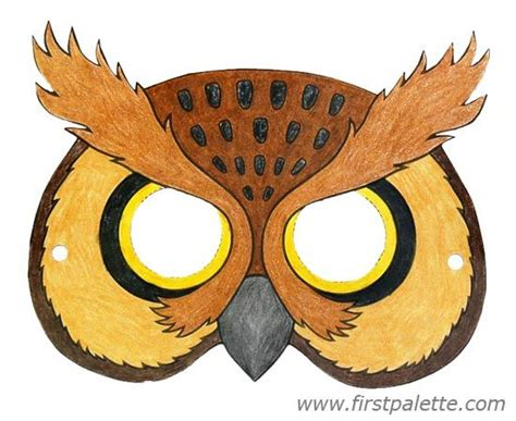 printable owl face 22 best images about printable animal masks on pinterest