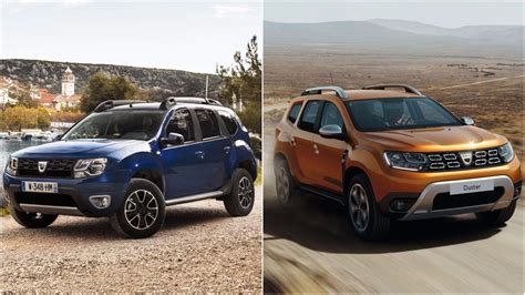 renault duster 2018 2018 dacia duster see the changes side by side