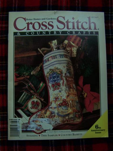 cross stitch and country crafts july august 1991 christmas