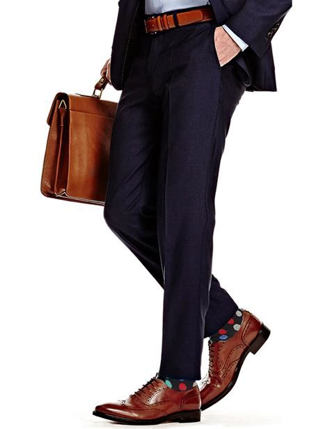 Men's Dark Navy Extra Slim Fit Suit Trouser   Super 120s