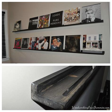 Records Shelf by White Diy Record Display Shelf Diy Projects