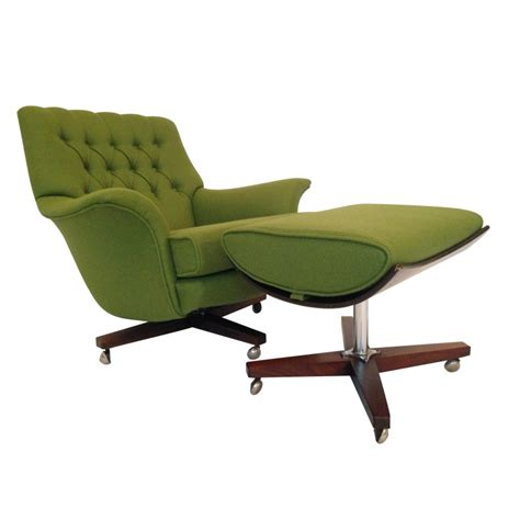 armchair with footstool vintage g plan swivel armchair with footstool