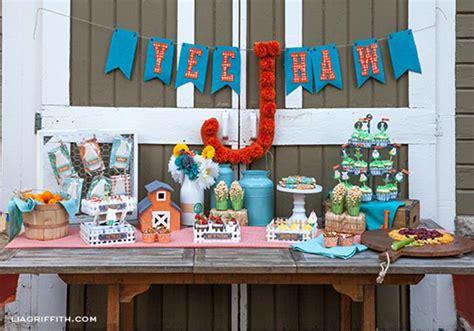 farm theme decorations kara s ideas farm birthday planning ideas