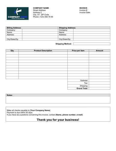 Sales Invoice Templates 27 Exles In Word And Excel Auction Invoice Template